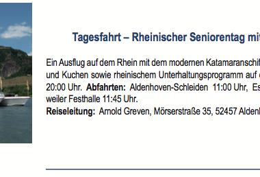 Rheinischer Seniorentag mit Herz am 29.08.2018